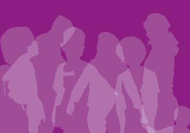 Sombra de personas, parte de la portada del documento de origen.