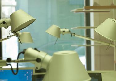 Lámparas de oficina.